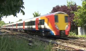 Still taken from Reading to Waterloo train video.