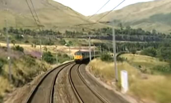 Still taken from Royal Scot train video.