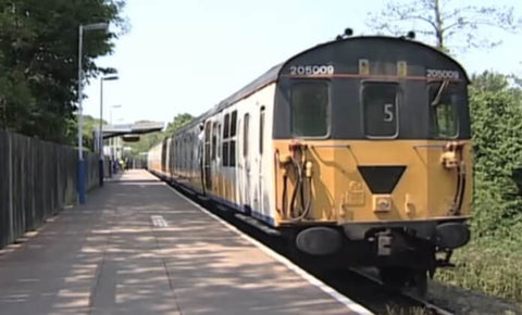 Still taken from Uckfield Thumper train video.