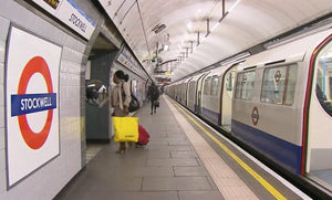 Still taken from Victoria Line train video.