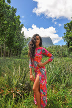 Load image into Gallery viewer, The Alessandra Dress - Hot Tropical Pink