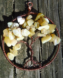 Opal Tree of Life Pendant October Birthstone