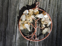 Citrine Tree of Life Pendant November Birthstone