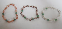 Green Aventurine Copper Wire Link Bracelet