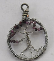 Ruby Tree of Life Pendant July Birthstone
