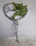 Peridot Tree of Life Copper Wire Bracelet