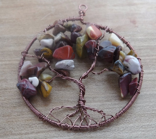 Mookaite Tree of Life Pendant