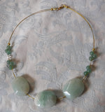 Green Aventurine Three Stone Necklace