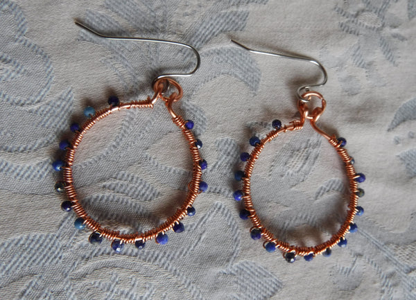 Gemstone Hoop Earrings