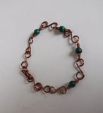 Malachite Copper Wire Link Bracelet