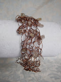 Citrine and Copper Wire Crochet Bracelet