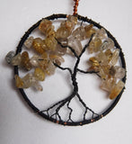 Tree of Life Rutilated Quartz Crystal Pendant