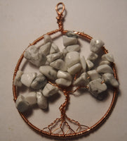 Howlite Tree of Life Pendant