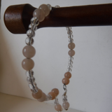Pink Aventurine and Crystal Bead Necklace