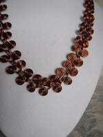 Egyptian Coil Style Spiral Copper Necklace