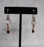 Selenite Herringbone Wrapped Earrings
