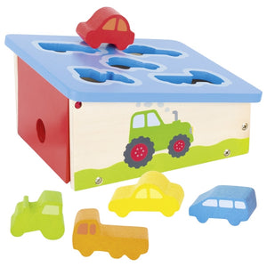 Shape sorting vehicles