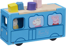 Load image into Gallery viewer, Peppa pig shape sorter bus