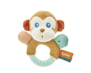 Monkey teething rattle