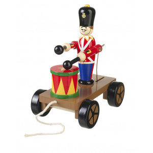 Drumming Soldier on a Wheels