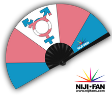 Load image into Gallery viewer, Trans Pride Clack Fan