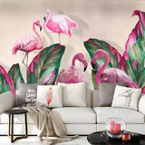 Tapisserie Flamant Rose<br/> Colorée
