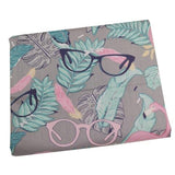 Tissu Flamant Rose<br/> Lunettes