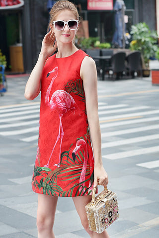 Robe Flamant Rose<br/> Rouge Chic