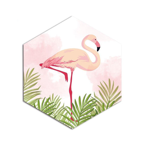 Tableaux Flamant Rose<br/> Hexagones Flamingo