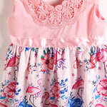 Robe Flamant Rose<br/> Petite Fille