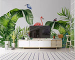 Papier Peint Flamant Rose<br/> Tropical
