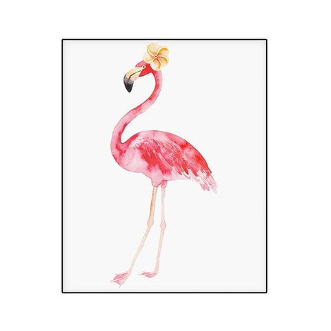 Tableau Flamant Rose<br/> Slogan Flamingo