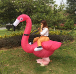 Déguisement Flamant Rose<br/> Gonflable Adulte