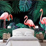 Papier Peint Flamant Rose<br/> Jungle