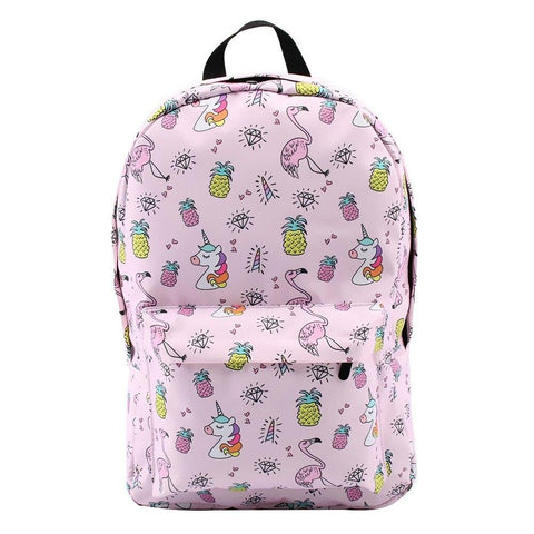 Cartable Flamant Rose Licorne | ROSEUS
