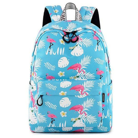 Cartable Flamant Rose Tropical | ROSEUS