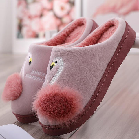 Chaussons Flamant Rose Fille | ROSEUS
