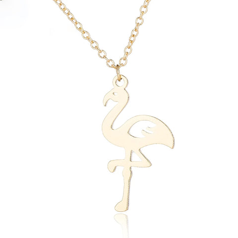 Collier Flamant Rose<br/> Doré