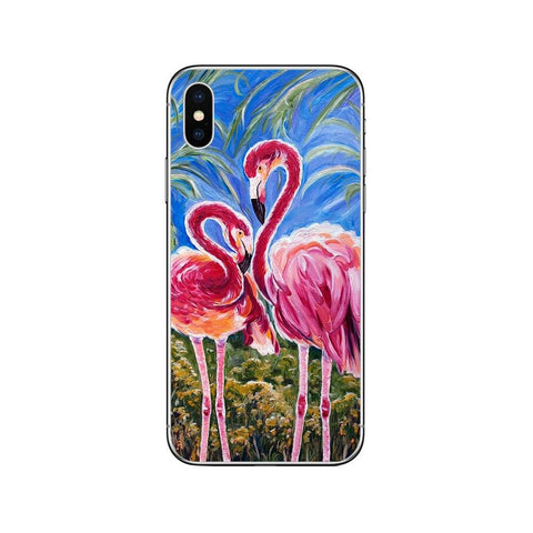 Coque iPhone avec 2 Flamants Roses | ROSEUS