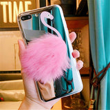 Coque iPhone Flamant Rose Pompon | ROSEUS