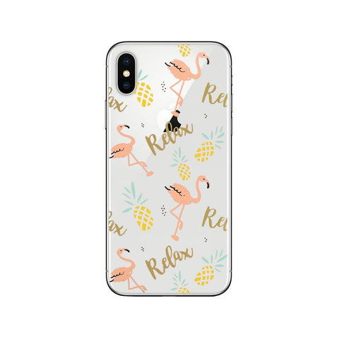 Coque iPhone Flamant Rose Relax | ROSEUS