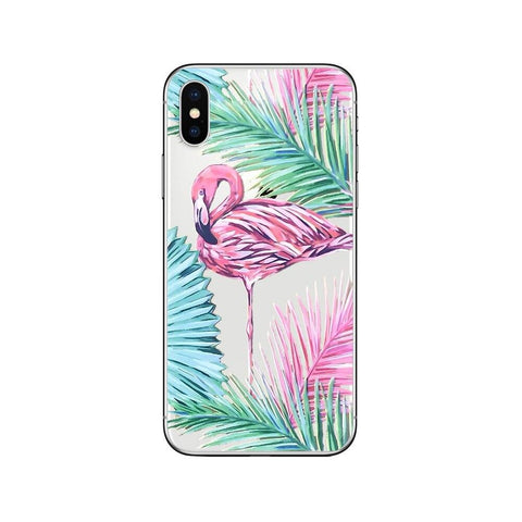 Coque iPhone Flamant Rose Solitaire | ROSEUS