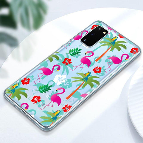 Coque Samsung Flamant Rose Jungle | ROSEUS