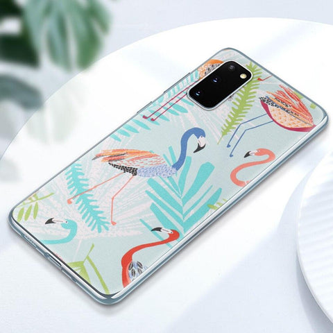Coque Samsung Flamant Rose Multicolore | ROSEUS