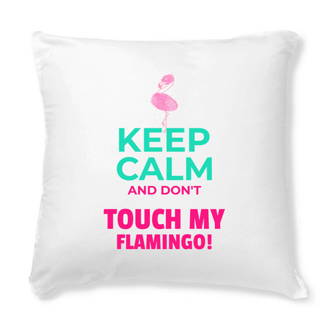 Coussin Flamant Rose Keep Calm | ROSEUS