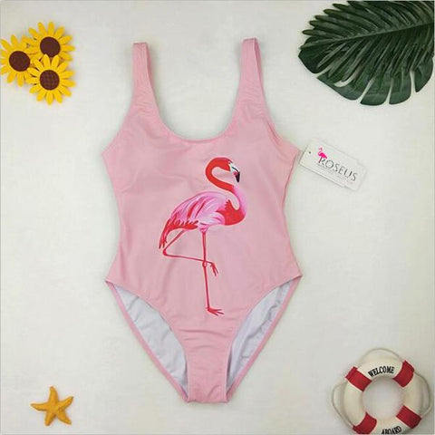 Monokini Flamingo Flamant Rose | ROSEUS