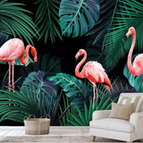 Papier Peint Flamant Rose Jungle | ROSEUS