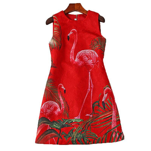 Robe Flamant Rose Chic Rouge | ROSEUS