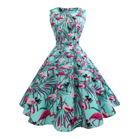 Robe Flamant Rose Tropicale | ROSEUS