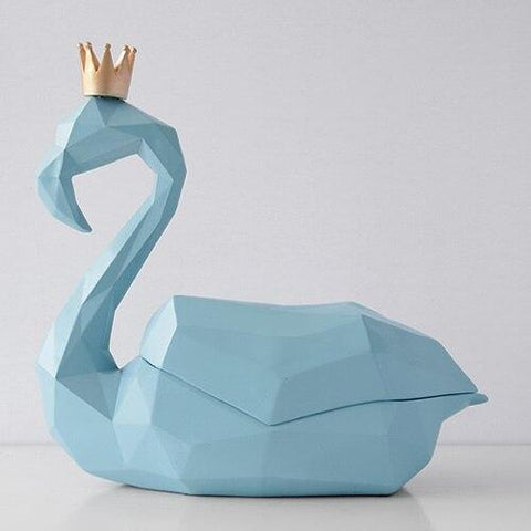 Statue Flamant Rose Design (Bleue) | ROSEUS